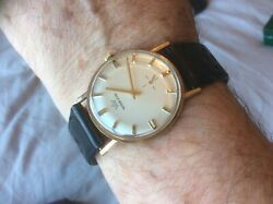 Vintage Marvin In Solid 9ct Gold Wind Up Sub-sec ......