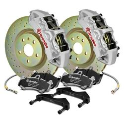 For Chevy Camaro 10-15 Gt Series Cross Drilled 1-piece Rotor Front Big Brake Kit
