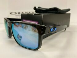 Oakley Holbrook Polished Black Prizm Deep Water Polarized Lens OO9102 C1 NEW $108.99