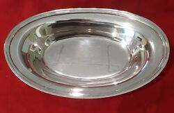 Sterling Silver 10 5/8 Oval Bread Dish - No Monogram - 13.8 Troy Ounces