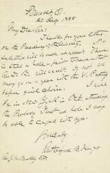 Rutherford B. Hayes - Autograph Letter Signed 08/20/1888
