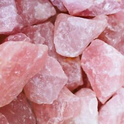 Rose Quartz Crystal Collection💎Bulk Rough High Carat Mineral Healing Rock Lot $8.20