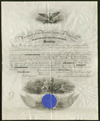 Grover Cleveland - Naval Appointment Signed 10/31/1896 With Co-signers
