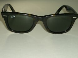 RAY BAN ITALY RB2140 50 22 DARK TORT G15 UV CRYSTAL LENS WAYFARER SUNGLASSES $139.99