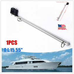 1andtimesmarine Rail Mounted Flag Staff Pole S.s Plastic Rail Clamp Boat Yacht 15.55and039and039