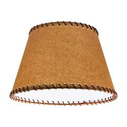 Oiled Parchment 19 Inch Empire Washer Fitter Lamp Shade With Stitched Trim