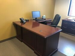 Traditional Look Office Furniture Set For Sale. See Pictures.