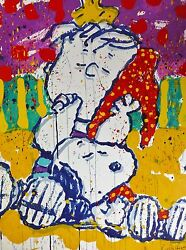 Tom Everhart Who Placed The Wake Up Call Snoopy Linus Peanuts Hand Signed
