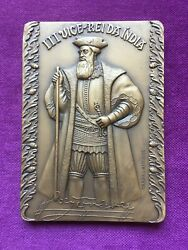 Beautiful Antique And Rare Bronze Medal Of The Third Viceroy Of India 1538-1540