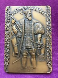 Beautiful Antique And Rare Bronze Medal Of The Eighth Viceroy Of India 1561-1564