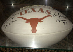 Darrell Royal And Earl Campbell Texas Longhorns Autographed Football