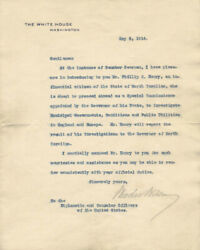 Woodrow Wilson - Typed Letter Signed 05/05/1914
