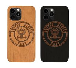 Iphone 11 Us Navy Iphone 5 6 7 8 Plus Xs Xmax Xr 11 Pro Max Wood Case