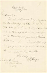 Rutherford B. Hayes - Autograph Letter Signed 02/11/1884