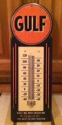 Gulf Thermometer Motor Oil Gas Petroleum Collectible Texaco Mobil Sinclair
