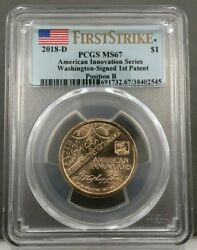 2018-d American Innovation Patent Dollar Position B Pcgs Ms67 First Strike