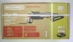New Rockwell Sonicrafter Cordless Oscillating 12pc Tool Kit Brushless - Rk2701k