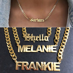 Personalized Custom Name Stainless Steel Cuban Curb Chain Engraving Necklace New $12.99