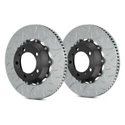 For Porsche 911 02-15 Brake Rotors Gt Series Curved Vane Type Iii Slotted