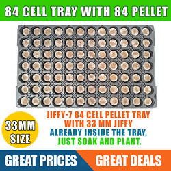 Jiffy 7 Peat Pellet Tray 84 Cell 33mm Jiffy With Tray Ready For Cloning Seeds