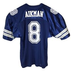 Vintage Russell Dallas Cowboys Troy Aikman Size 52 Jersey Nfl On Field Made Usa