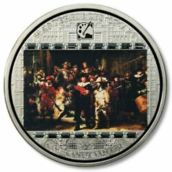 Cook 2009 20 Masterpieces Of Art Rembrandt The Night Watch 3 Oz Silver Coin 6