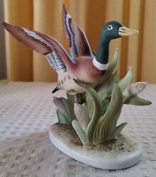 Lefton Porcelain China Hand Painted Mallard Duck Kw618 Made In Japan