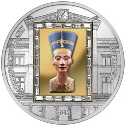 Cook 2012 Masterpieces Of Art The Bust Of Nefertiti Mask Gold Silver Coin 4