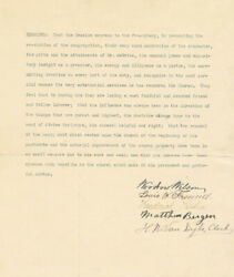 Woodrow Wilson - Document Signed With Co-signers