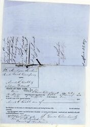 Grover Cleveland - Manuscript Document Double Signed 03/11/1856 With Co-signers