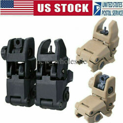 20mm Premium Pair Flip up Tactical Sight Folding Backup Sights Front amp; Rear Set $9.99