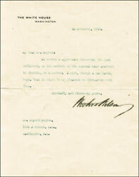 Woodrow Wilson - Typed Letter Signed 11/20/1918