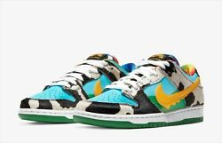 Ben And Jerry's × Nike Sb Dunk Low Pro Chunky Dunky Cu3244-100 New Us 9.5