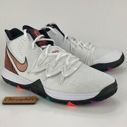 New Nike Kyrie 5 Bhm White Metallic Red Bronze Ci7894-100 Size 7y Irving