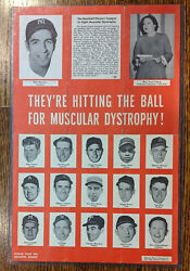 1954 Baseball Players League To Fight Muscular Dystrophy Poster 16 Mlb Players