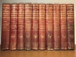 Leather Setencyclopedia Of Business Administration Mba Accounting 1915 Massive