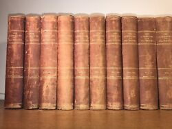 Leather Set Encyclopedia Literature Of All Nations 1902complete Old Some Wear