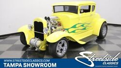 1931 Ford 5-Window Coupe TEEL BODY CHOPPED 350 V8 DUAL QUADS COLD R-134A AC CUSTOM PAINT LEATHER