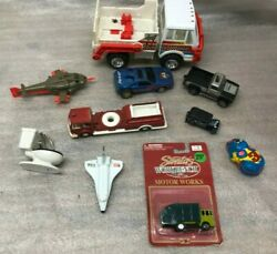 Mixed Lot Of Vintage Toy Cars Trucks Tonka Space Shuttle Fire Truck Tin Toy