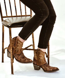 L1697-1 Old Gringo Polochale Queenswood 7 Tan Snuff Sintino Toe/heel Ankle Boot
