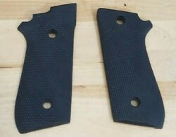 Taurus 92 99 Early No Decocker Black Rubber Checkered Uncle Mikes Grips