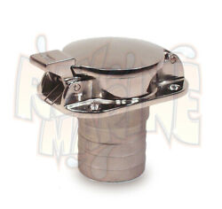 Flip Top Gas Cap Fuel Fill Stainless Steel With 1 1/2 Inch Hose Sea Dog 351110