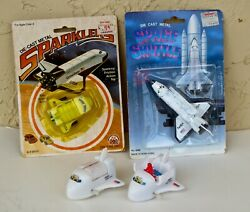 4 Space Shuttle Toys. Vintage. Die Cast And Plastic And Historical.