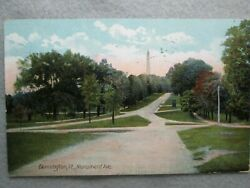 Antique Monument Avenue Bennington Vermont Photo Postcard 1910