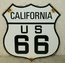 California Us Route 66 Vintage Style Porcelain Highway Signs Man Cave Station