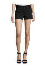 Alice And Olivia Tailored Cady High Waist Stretch Shorts For Women In Black 4
