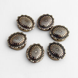 Navajo Concho Style Button Covers Set Sterling Silver Base Metal