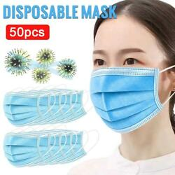 50PcsPack Face Mask With Retail Box Sent out soon NEW & Best US