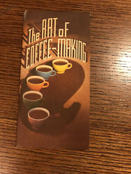 Vintage 1948, The Art Of Coffee Making, Hills Brothers Co Brewing How To Booklet