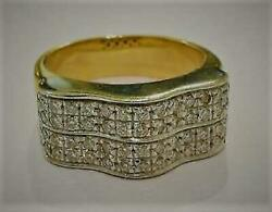 18k Yellow And White Gold 1.80 Cts H Vs1 Round Brilliant Natural Diamond Ring